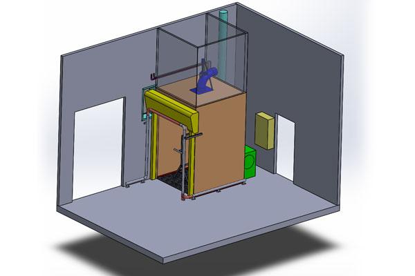 Modélisation cabine de séchage