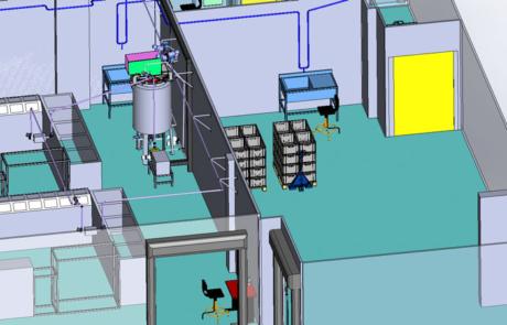 Modélisation zone de production