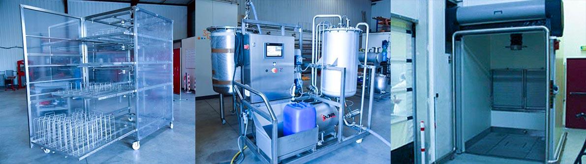 3D Process skid pharmaceutique lavage & séchage