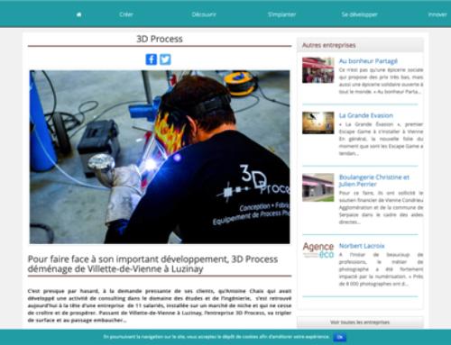 L'Agence Eco Vienne parle de 3D Process