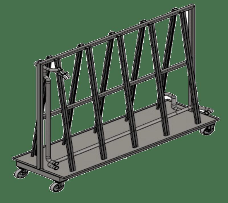 Support flexible mobile sur chariot